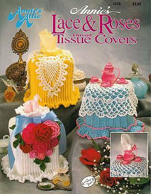 New Annie's Lace & Roses Thread Tissue Covers Crochet Pattern Book