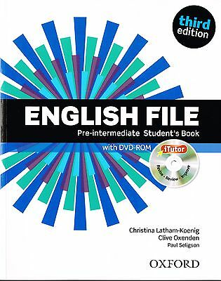 ENGLISH FILE Pre-Intermediate Third Edition Student's Book w iTutor DVD-ROM @NEW