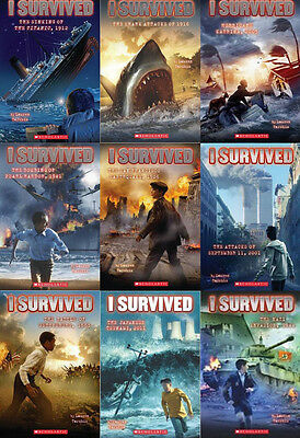 I Survived Collection Set 1-9 Juvenile Action Adventure Series Books Paperback!!