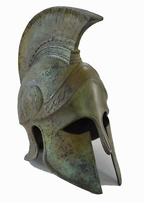 Helmet Ancient Greek Bronze aged Griffin freestanding Great artifact