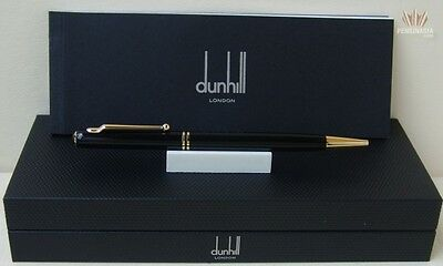 Dunhill Sidecar S'liner Black Lacquer With Gold Plated Finish Ball Point Pen !!!