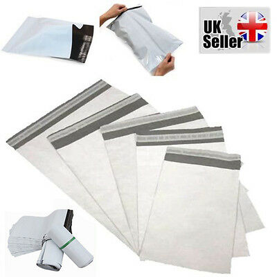 Strong White Plastic Poly Mailing Postage Packaging Bags Peel and Seal ALL SIZES