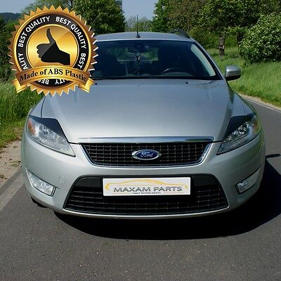 -= FORD MONDEO MK4 MKIV 2007-2013 Headlamps Lids Brows Eyebrows Eyelids = ABS =-