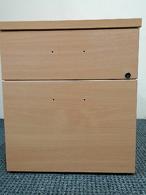 Small Lockable 2 keys Office Storage/ Filing two drawer Brown Cabinet