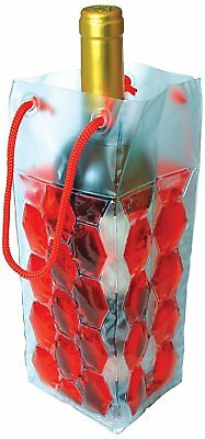 GEL CHILL Wine Champagne Bottle Ice Gift Bag Portable Carrier Cooler Reusable