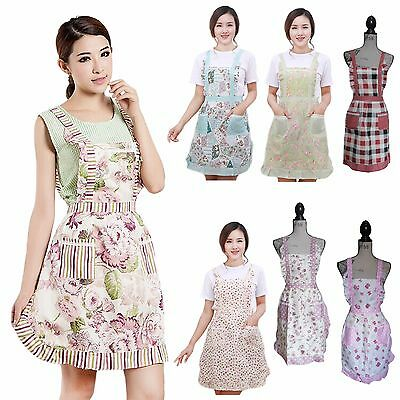 Womens / Ladies Country Cottage Floral Print Aprons -- new