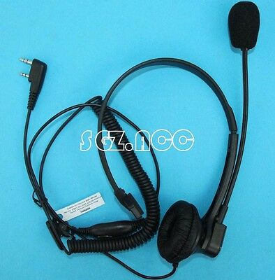 2 pin VOX Headset Earpiece For KENWOOD WOUXUN QANSHENG Baofeng BF UV5R Radio HoT