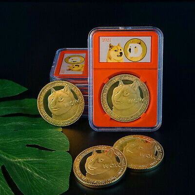 2018 Gold Plated Physical Commemorative Bitcoin Collection with Crystal Case