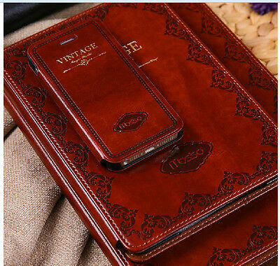 MOSISO Fashion Retro Ancient Old Luxury Style PU Leather Case  fr IPHONE 4 5 5S