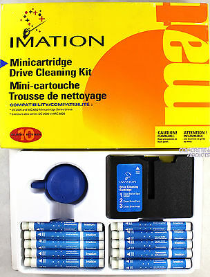 IMATION MINICARTRIDGE DRIVE CLEANING KIT 10 CLEANINGS DC2000 & MC3000 Series NEW