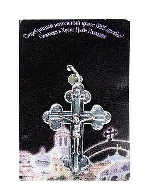 Real Hand made 925 pure silver L cross blessed in the holy sepulchre Jerusalem