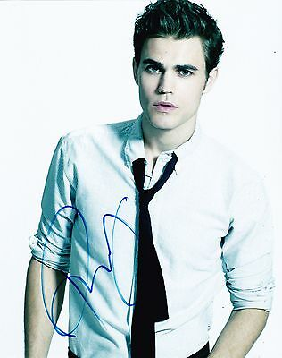 Paul Wesley Signed 8X10 Photo Autograph The Vampire Diaries Coa A