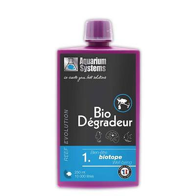 Aquarium Systems REEF EVOLUTION Bio Degradeur 250 ml Bactéries starter