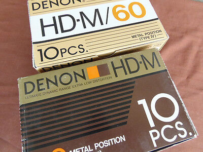 Denon Metal Hi Bias Type IV Blank Audio Cassette Tapes NOS Made in Japan New