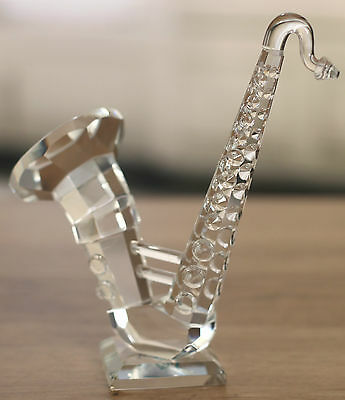 Crystal Saxophone Ornament Home Decor 13cms BRAND NEW Gift Boxed