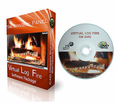 Virtual Fireplace Dvd + Log Fire Real Wood Effect + 9 Different Fire Scenes