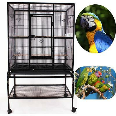 Parrot Bird Cockatiel Parakeet Macaw Finch Cage Bird Cage with Stand