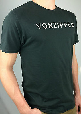 VON ZIPPER. Men's RESPECT 100% Cotton T-Shirt. BLACK or GREEN. Sizes: S & M.