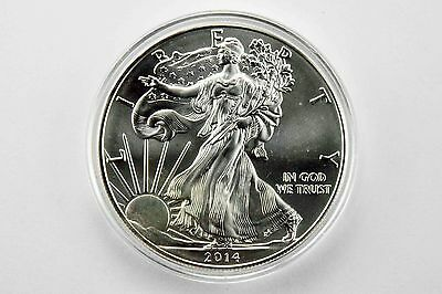 2014 - 1 oz Silver American Eagle Coin 2014 with Airtite Case