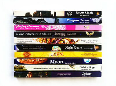 Incense Sticks Pagan Wicca Set 10 Box Mixed Variety Bulk Pack Total 80 Sticks