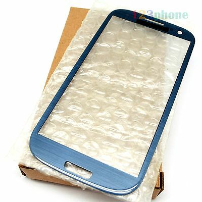(BOX PACKAGING) OUTER GLASS LENS FOR SAMSUNG GALAXY S3 i9300 i747 #PEBBLE BLUE
