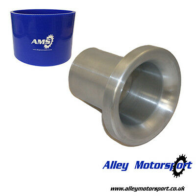 Spun Aluminium Trumpet 100mm - For use with K&N Air Filter 260mm - Free Joiner!