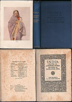 L436-India Painted By Mortimer Mempes Described By Flora Annie Steel 1923