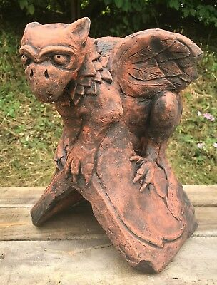 Baby Griffin roof finial 90° angled ridge tile frost proof stone original design