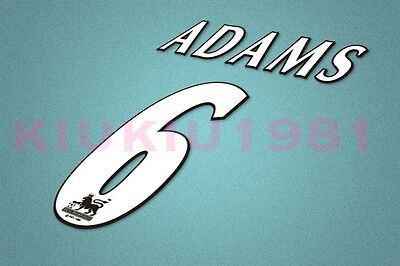 Arsenal Adams #6 PREMIER LEAGUE 97-06 White Name/Number Set