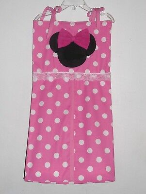 Diesney Minnie Mouse Personalized Baby Nursery Crib Bedding Diaper Stacker !