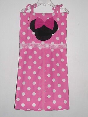 Disney Minnie Mouse Personalized Baby Nursery Crib Bedding Diaper Stacker !