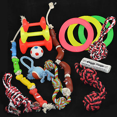 DOG & PUPPY TOYS Rope/Tugger/Squeaky 1 / 3 / 5 Toy Packs Wholesale Pet Job lot