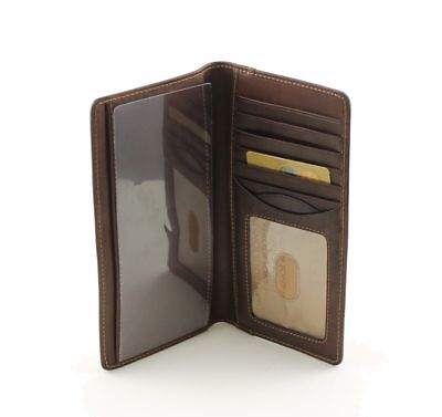 Tony Perotti Bifold Italian Leather Checkbook Wallet with ID Window