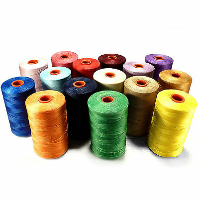 1 Reel - 500 mtr. Leather sewing waxed thread wax cord 1mm Color Selectable, ACK