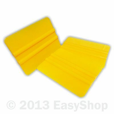 Yellow PVC Vinyl Sign Making Application Squeegee 102mm X 76mm Tool Round Corner