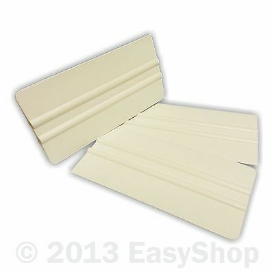 White PVC Large Vinyl Sign Making Wrap Application Squeegee Tool 152mm X 76mm