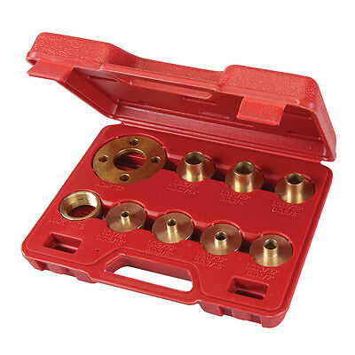 10 Pc Brass Router Guide Bush Set Adaptor Template Plate Use With Most Routers