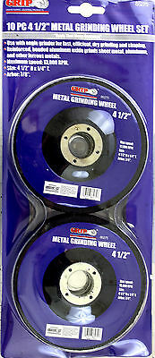 "10 Grip 4 1/2"" Metal Grinding Wheels #86275 NEW"
