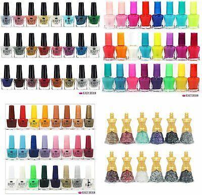 52 x Mixed Nail Polish Glitter Neon Bright Matte 48 Different Shades + 4Top Coat