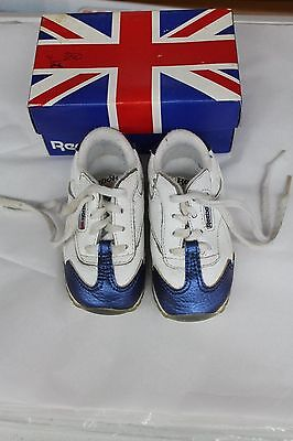 3222acfbe4ac6c INFANT SHOES BY Reebok Classics- Metallic Blue Accents -Size 5 ...