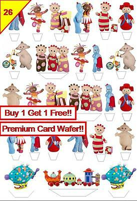 X 52 In The Night Garden Stand up Birthday Party Edible Wafer Cup Cake Toppers