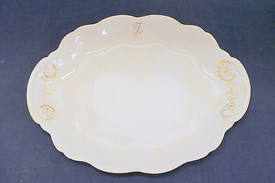"Vintage Antique W S George China Meat Platter Iris LARGE 17 x 14"" Shabby Cottage"
