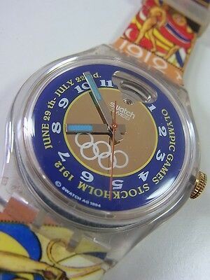 SAZ103 Swatch 1994 Olympic Special Stockholm 1912 Automatic