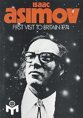 Isaac Asimov, Science Fiction, Visit to London, 1974. Official Booklet. (3161)