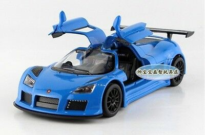 "Kinsmart 1:38 1/38 5"" 12cm Gumpert Apollo Super Sport Car Diecast model Car Blue"