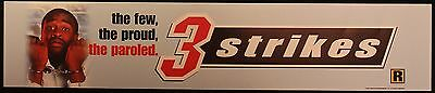 3 Strikes, Large (5X25) Movie Theater Mylar Banner/Poster
