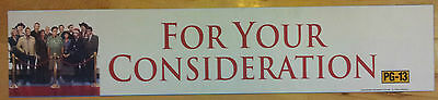 """""""For Your Consideration"""", Large (5X25) Movie Theater Mylar Banner/Poster"""