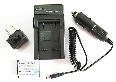 1.2A Battery+Charger for Kodak EasyShare M522 M532 M552 M583 MD55 Digital Camera