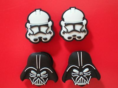 Charms Fit Belt Clog Shoe Button Bracelet 4 Darth Vadar Storm Troopers Star Wars