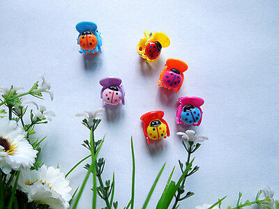 30pcs exquisite mini colored ladybug girl hair accessories hairpin claws